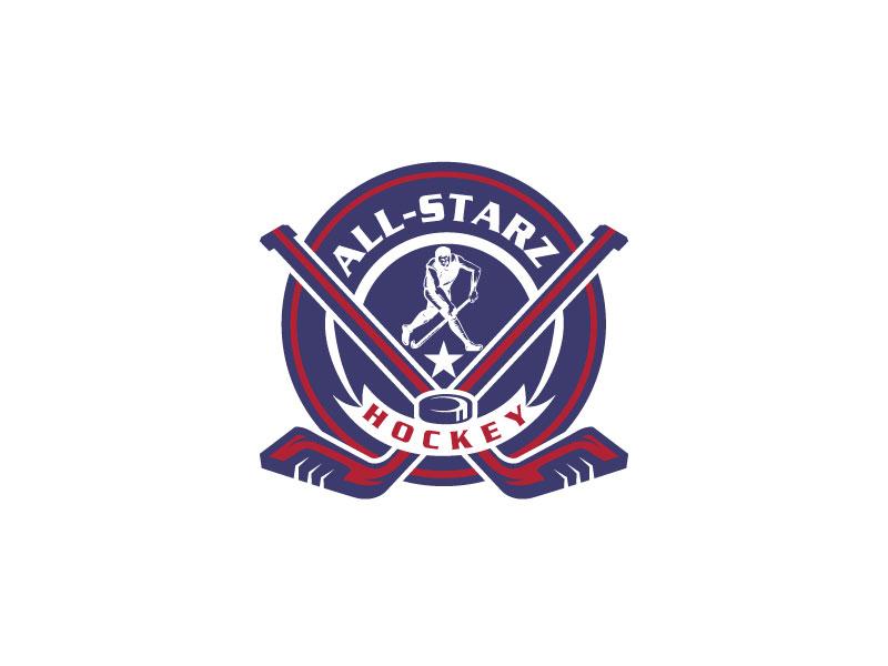 All-Starz Hockey logo design by LogoQueen