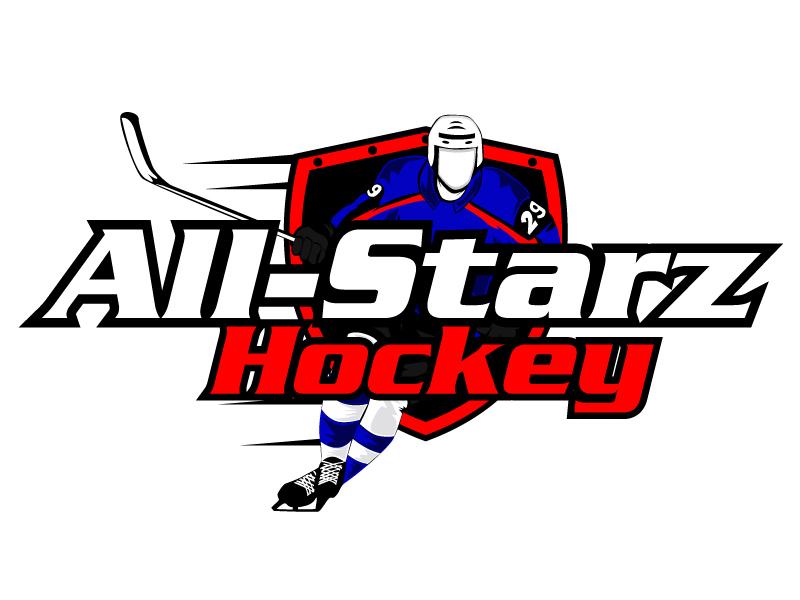 All-Starz Hockey logo design by ElonStark