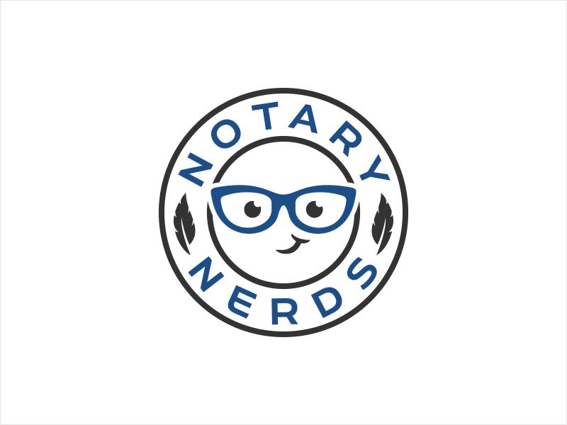 Notary Nerds logo design by Shabbir