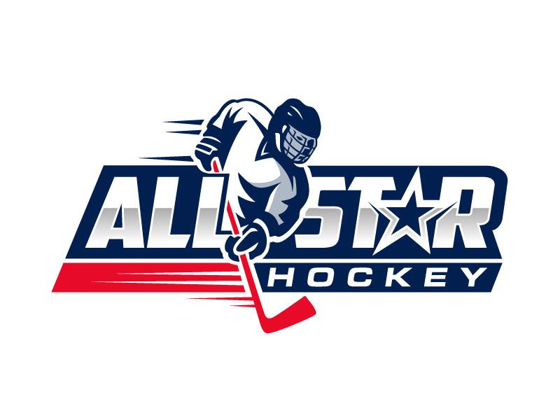 All-Starz Hockey logo design by nard_07