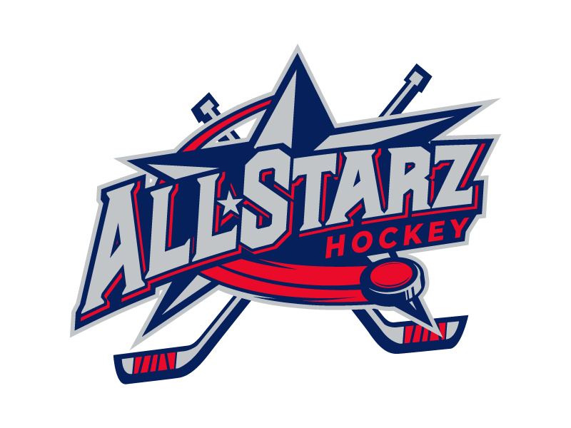 All-Starz Hockey logo design by daywalker