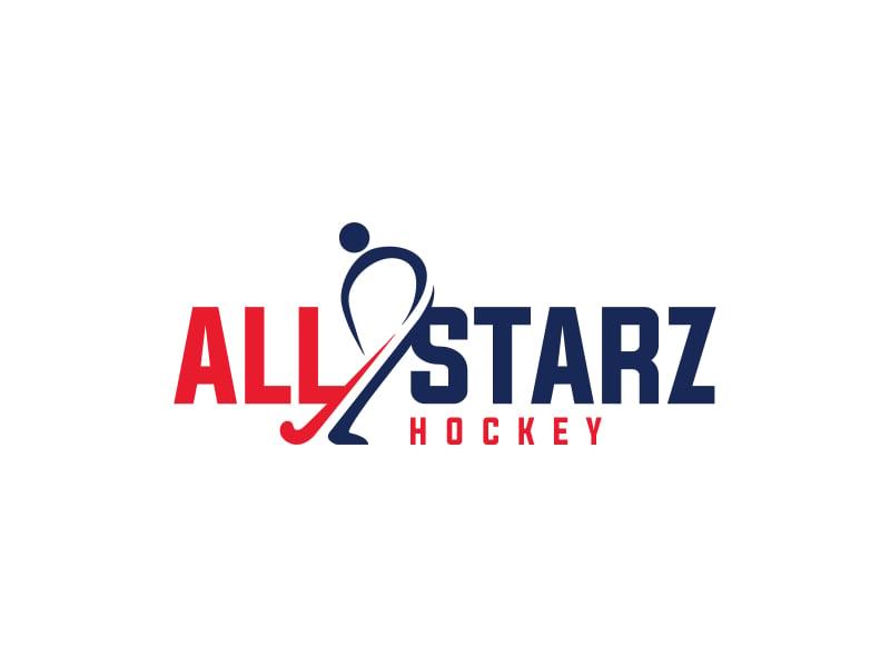 All-Starz Hockey logo design by pionsign