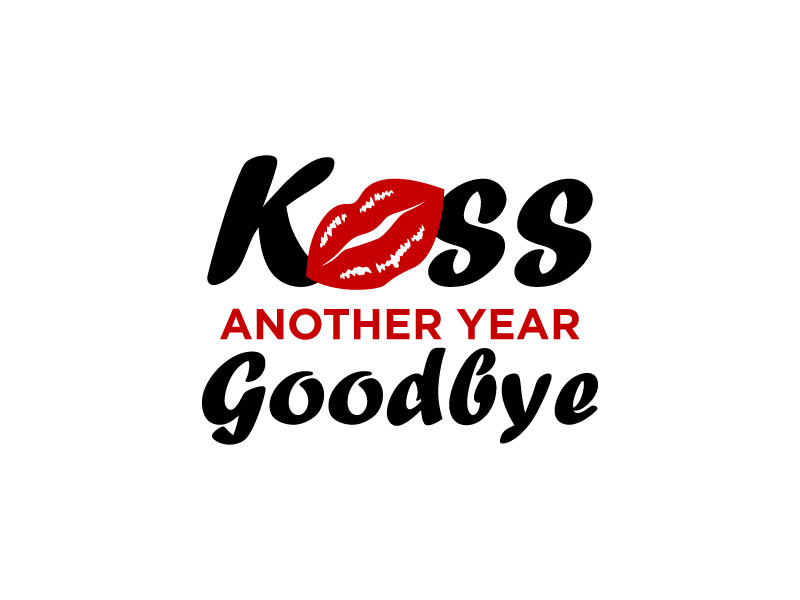 Kiss Another Year Goodbye logo design by torresace