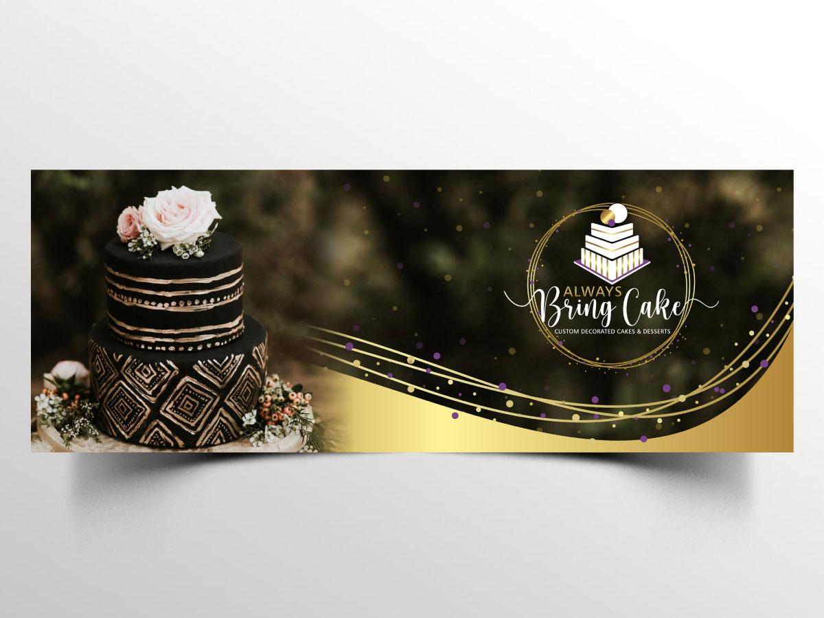 Always Bring Cake logo design by Boomstudioz