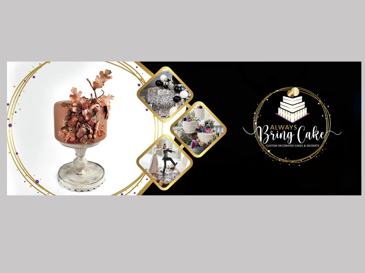 Always Bring Cake logo design by grea8design