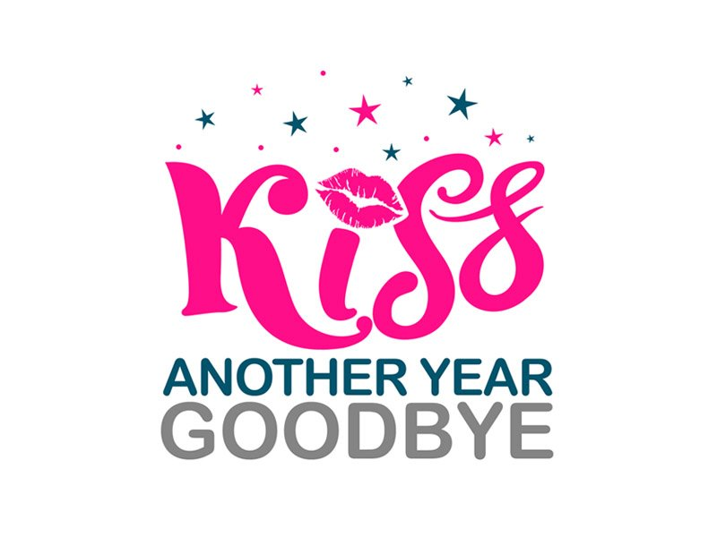 Kiss Another Year Goodbye logo design by ingepro