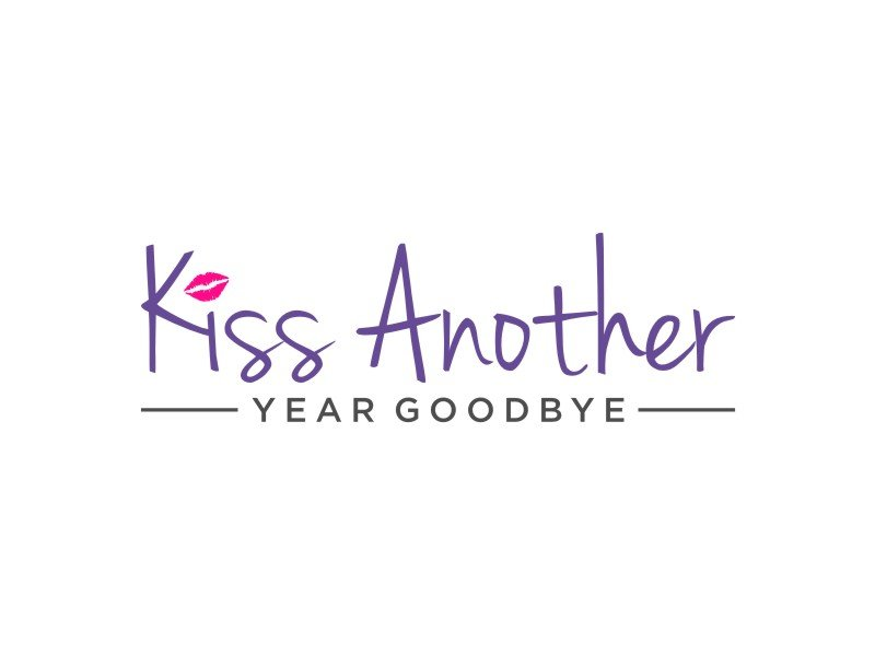 Kiss Another Year Goodbye logo design by puthreeone