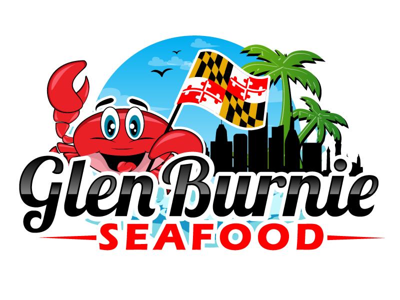 Glen Burnie Seafood logo design by ElonStark