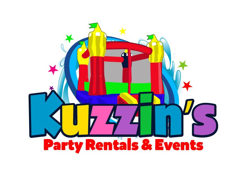Kuzzin's Party Rentals & Events logo design by ElonStark