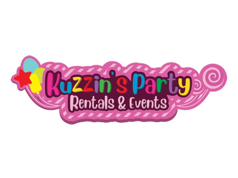 Kuzzin's Party Rentals & Events logo design by gulajawa