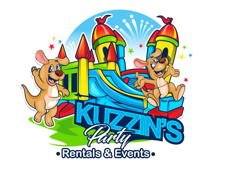Kuzzin's Party Rentals & Events logo design by usashi