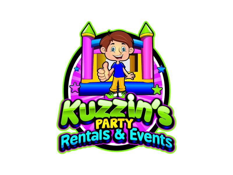 Kuzzin's Party Rentals & Events logo design by uttam