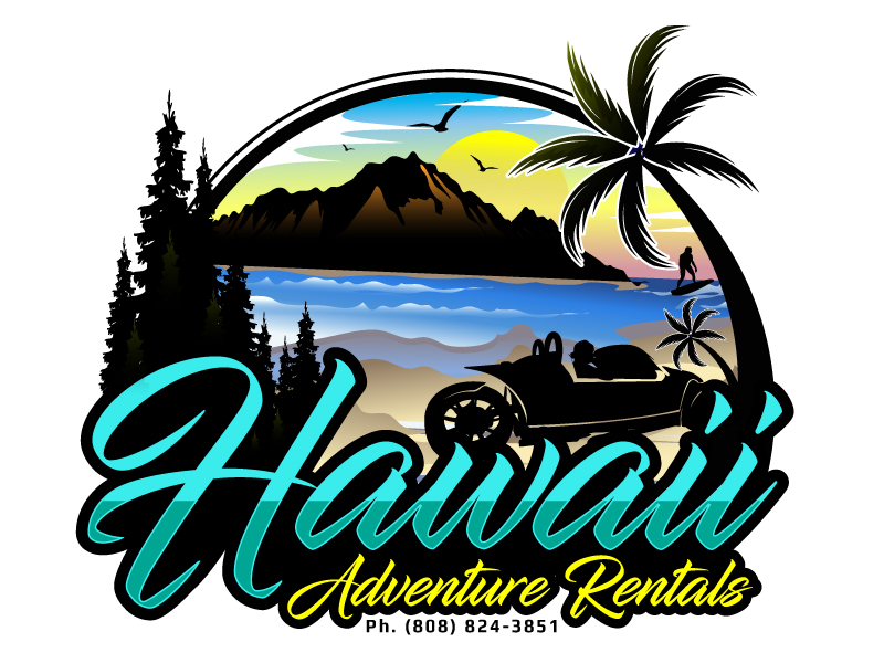 Hawaii Adventure Rentals logo design by LucidSketch