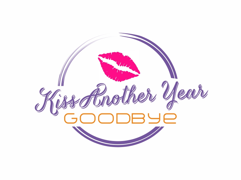 Kiss Another Year Goodbye logo design by Greenlight