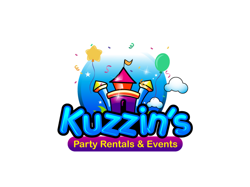 Kuzzin's Party Rentals & Events logo design by Webphixo