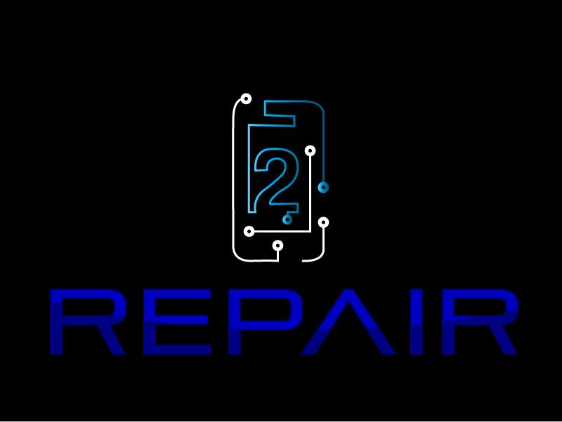 2 Repair logo design by xien