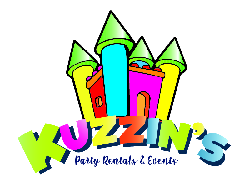 Kuzzin's Party Rentals & Events logo design by Carli Yario Lindahl
