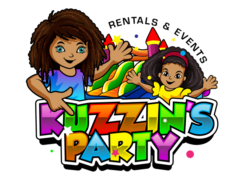 Kuzzin's Party Rentals & Events logo design by DreamLogoDesign