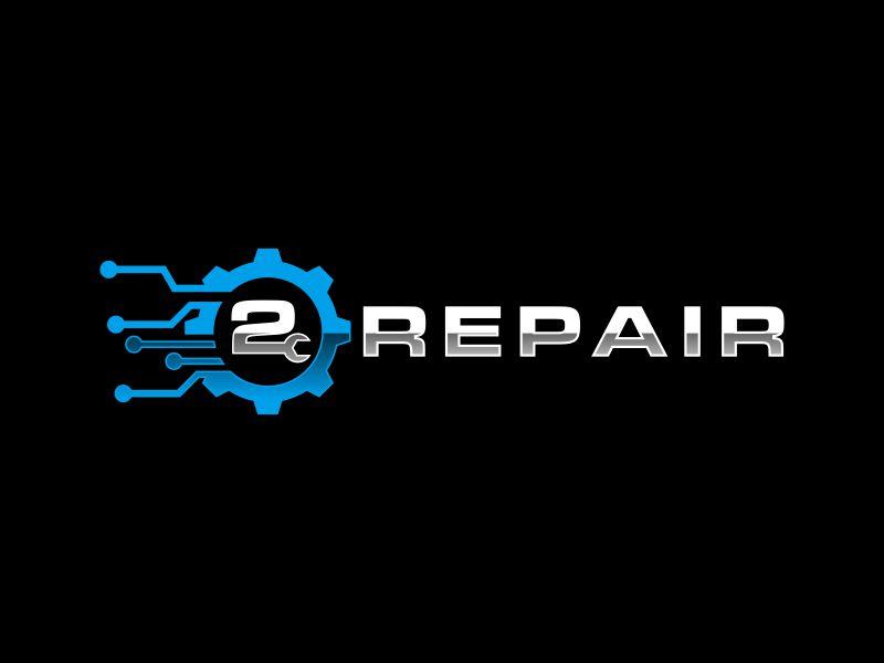 2 Repair logo design by zeta