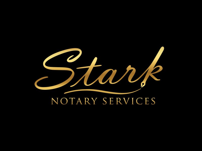 Stark Notary Services logo design by pionsign