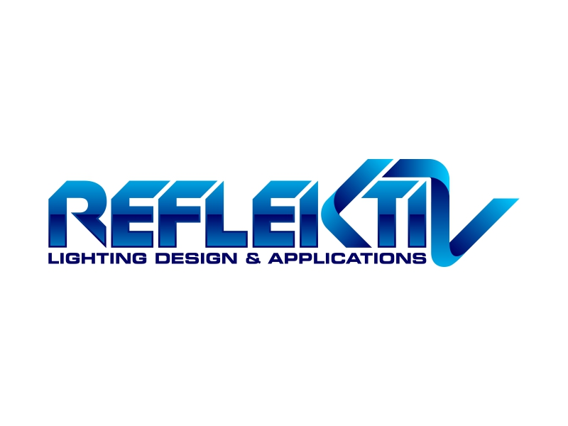 REFLEKTIV Lighting Design & Applications logo design by ekitessar