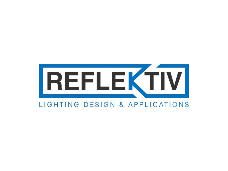 REFLEKTIV Lighting Design & Applications logo design by hwkomp