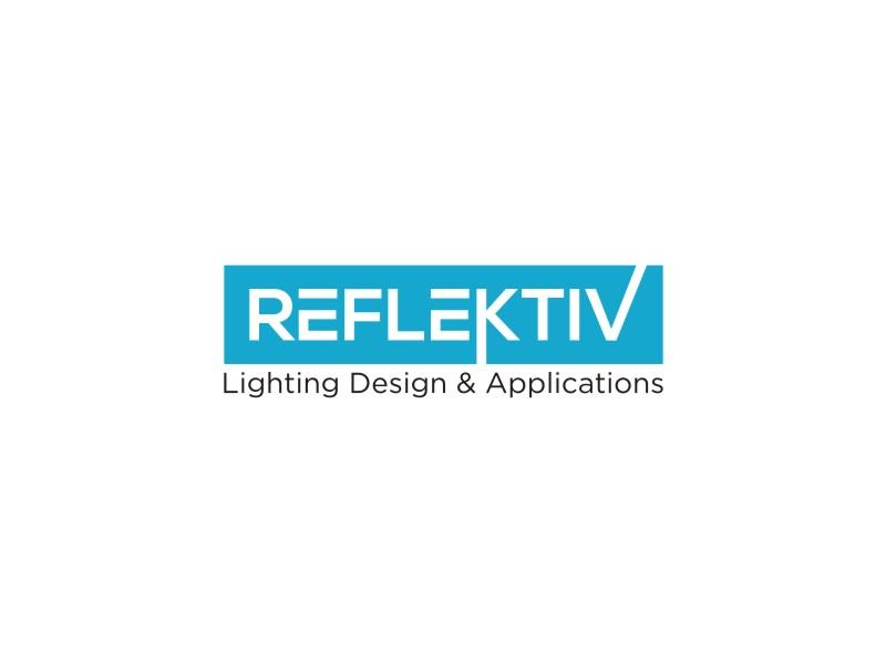 REFLEKTIV Lighting Design & Applications logo design by restuti