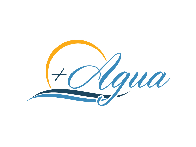 + Agua logo design by pencilhand