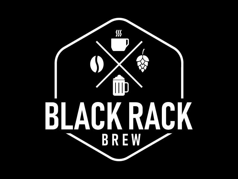 black rack brew Logo Design