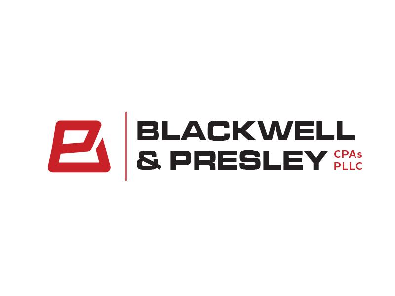 Blackwell & Presley, CPAs PLLC logo design by il-in