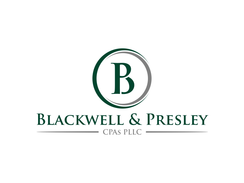 Blackwell & Presley, CPAs PLLC logo design by GassPoll