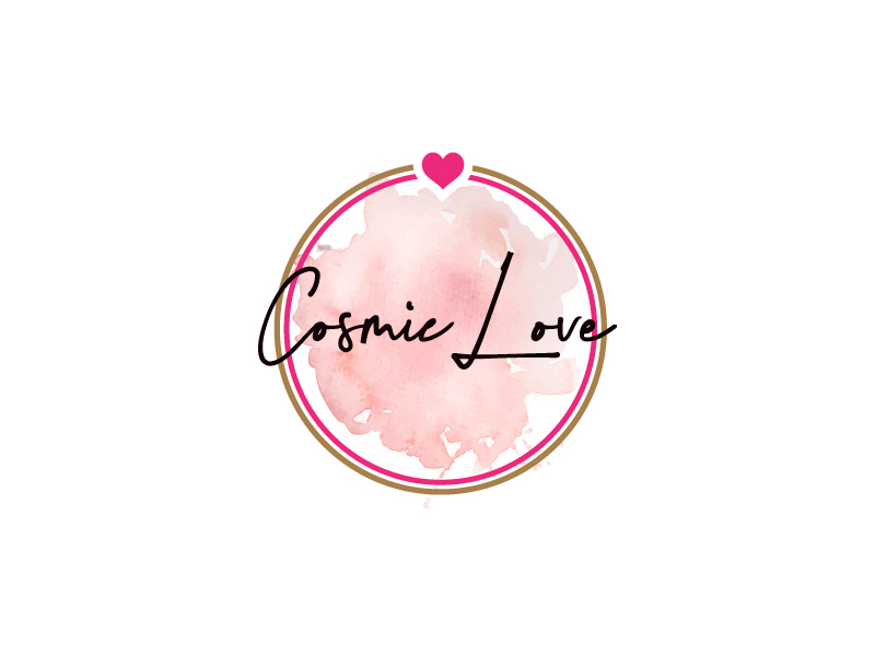 Cosmic Love logo design by Erasedink