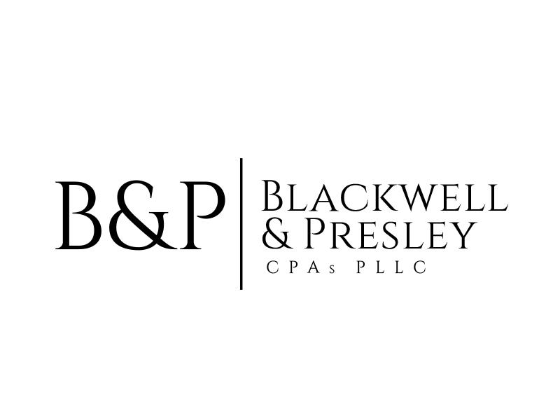 Blackwell & Presley, CPAs PLLC logo design by adm3