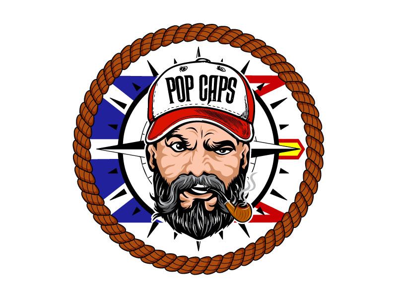 Pop Caps Logo Design