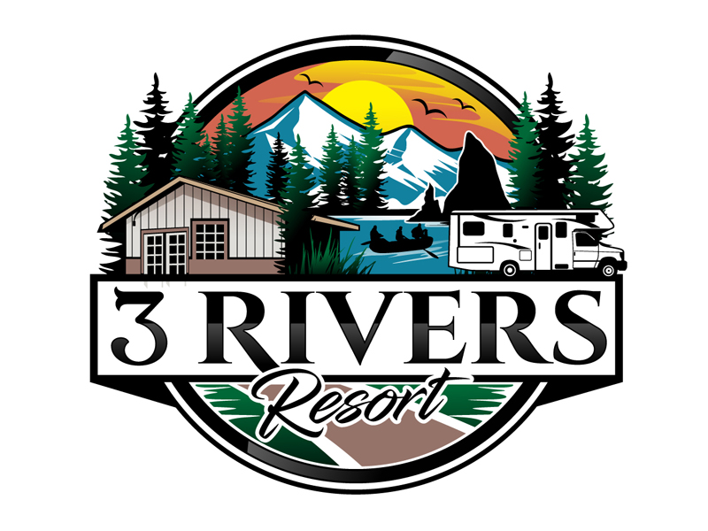 3 Rivers Resort Logo Design
