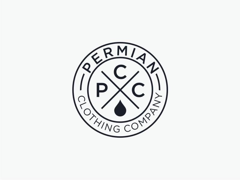 PCC    Permian Clothing Company logo design by Susanti