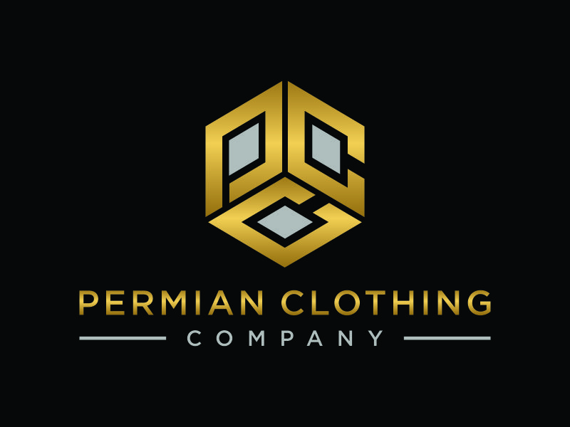 PCC    Permian Clothing Company logo design by ozenkgraphic