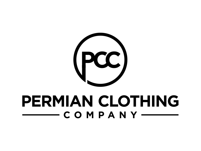 PCC    Permian Clothing Company logo design by cintoko
