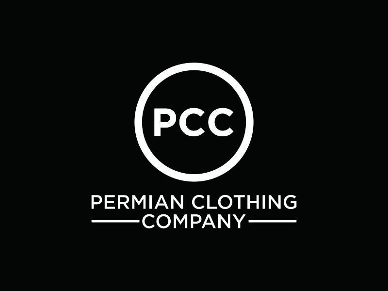 PCC    Permian Clothing Company logo design by bomie