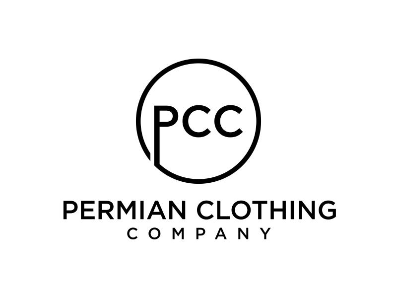 PCC    Permian Clothing Company logo design by GassPoll