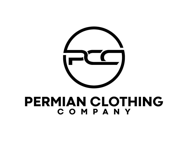 PCC    Permian Clothing Company logo design by BrightARTS