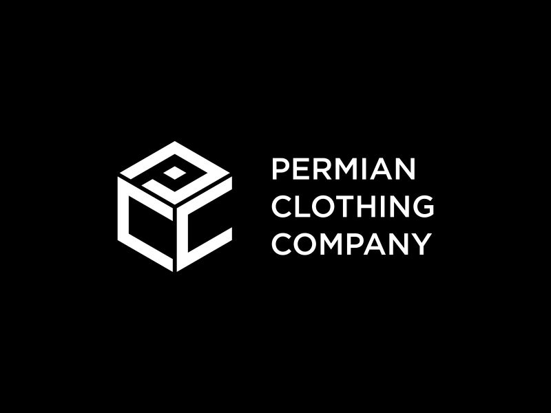 PCC    Permian Clothing Company logo design by Lewung