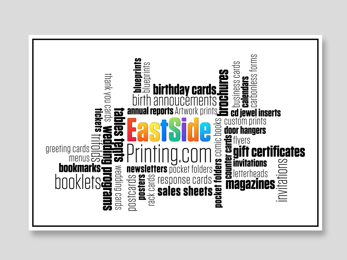 Print Marketing Postcard Logo Design