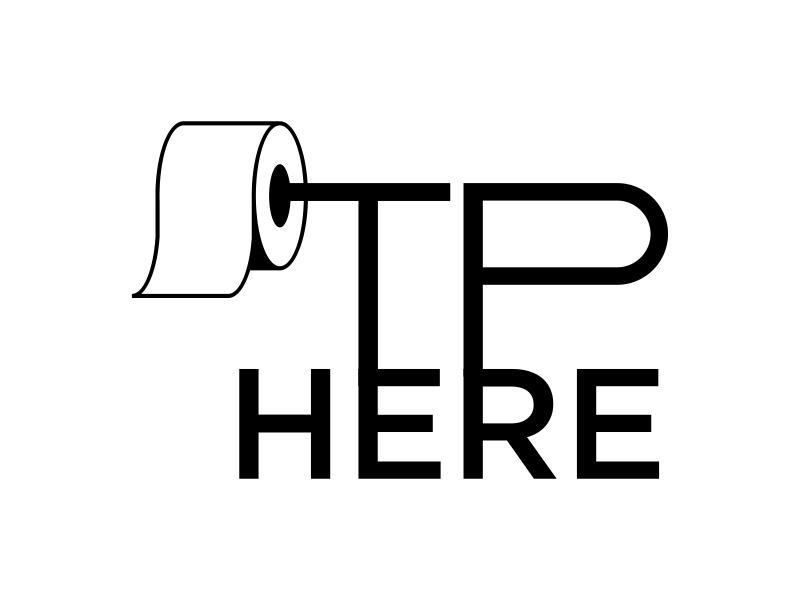 TP HERE logo design by GassPoll