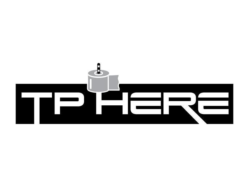 TP HERE logo design by Erasedink