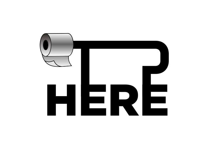 TP HERE logo design by aura