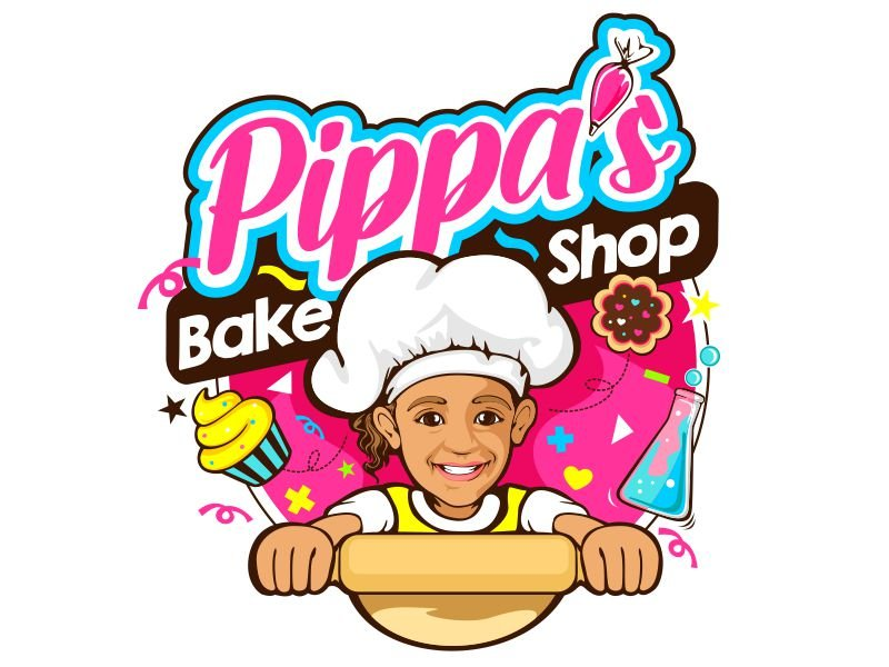 Pippa's Bake Shop Logo Design