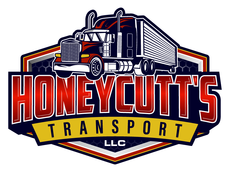 Honeycutt's Transport LLC logo design by daywalker
