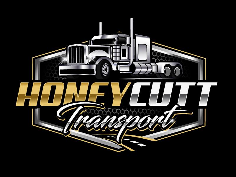 Honeycutt's Transport LLC logo design by LucidSketch