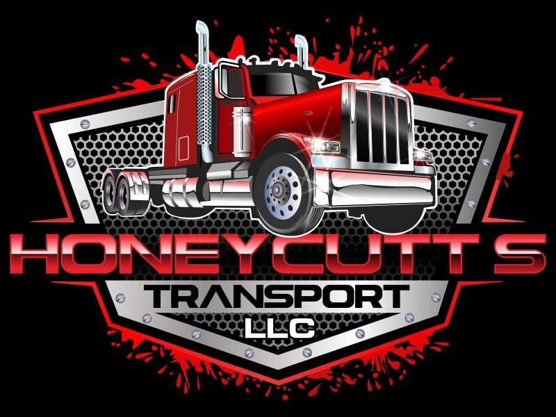 Honeycutt's Transport LLC logo design by bosbejo